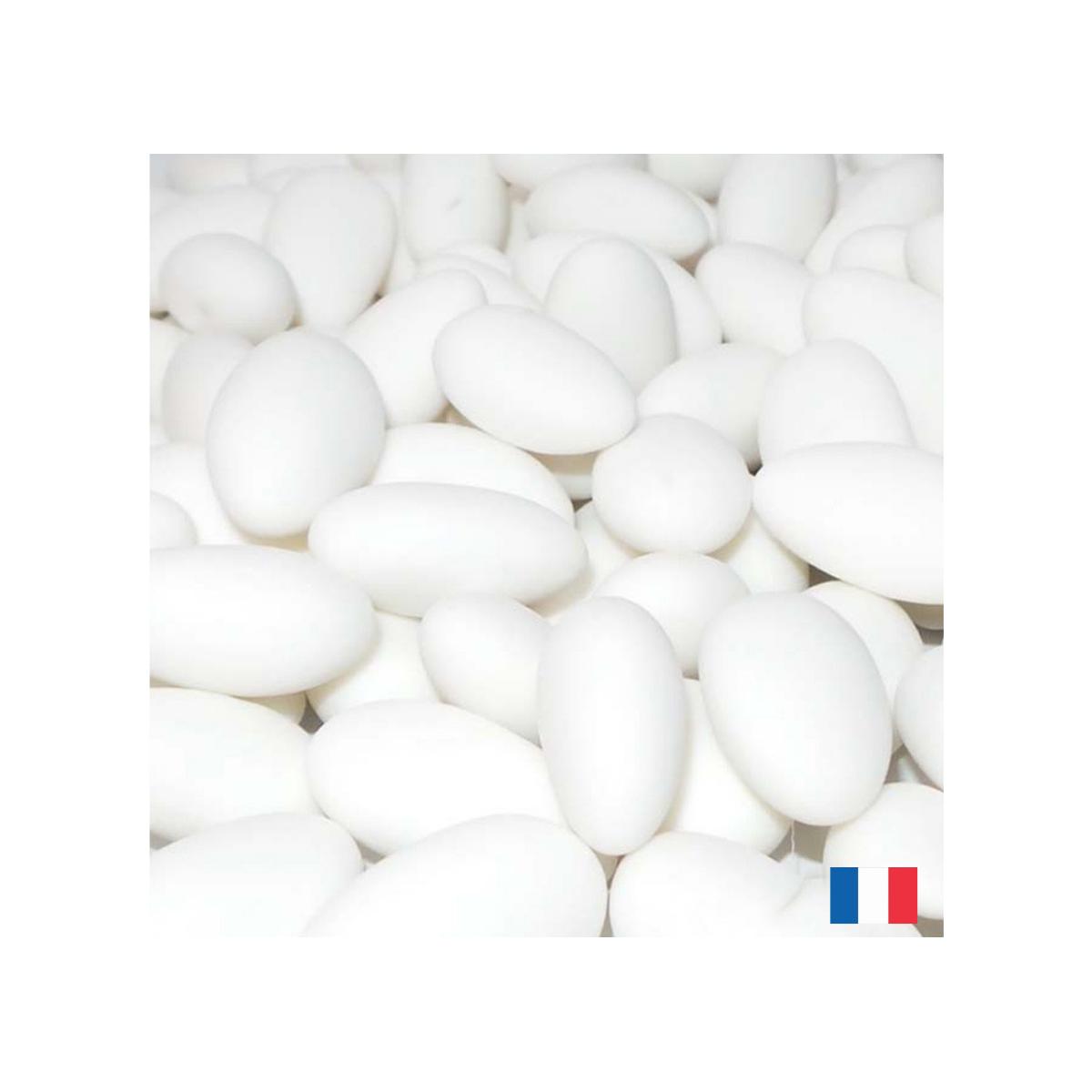 1kg Dragées Fabrcation française pas cher Amande 20% - Blanc