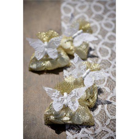 Sachet dragées nid d'abeille x 6 - Or