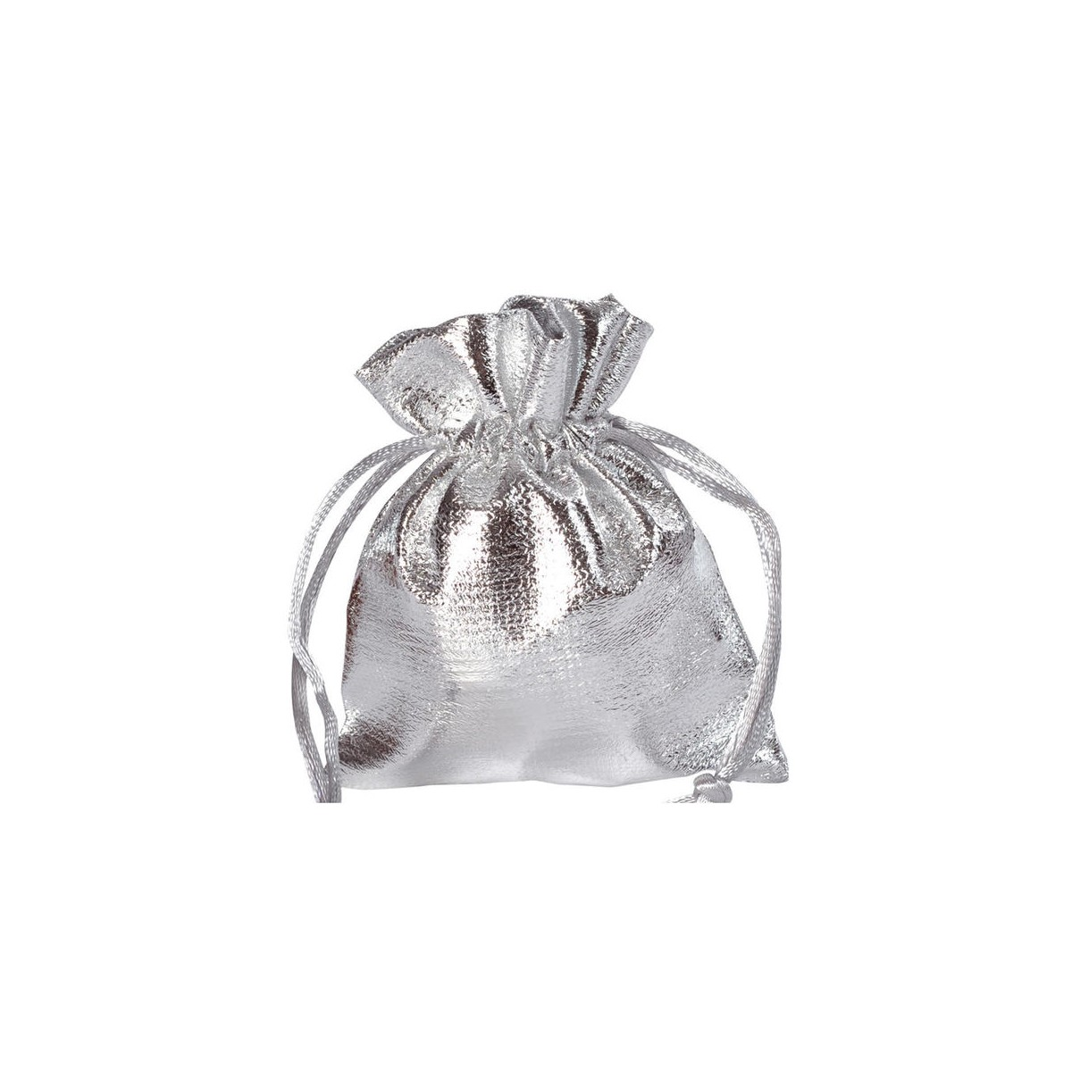 Sachet Dragées Brillant Argent x6