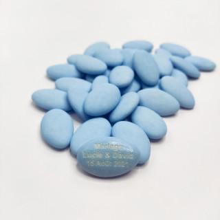 dragées personnalisées bleu