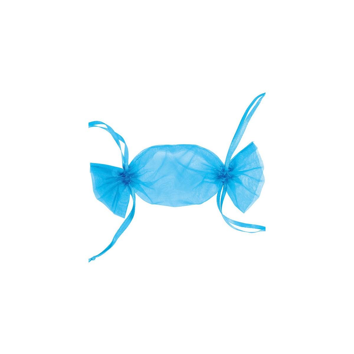 Sachet à Dragées Bonbon x6 - Turquoise