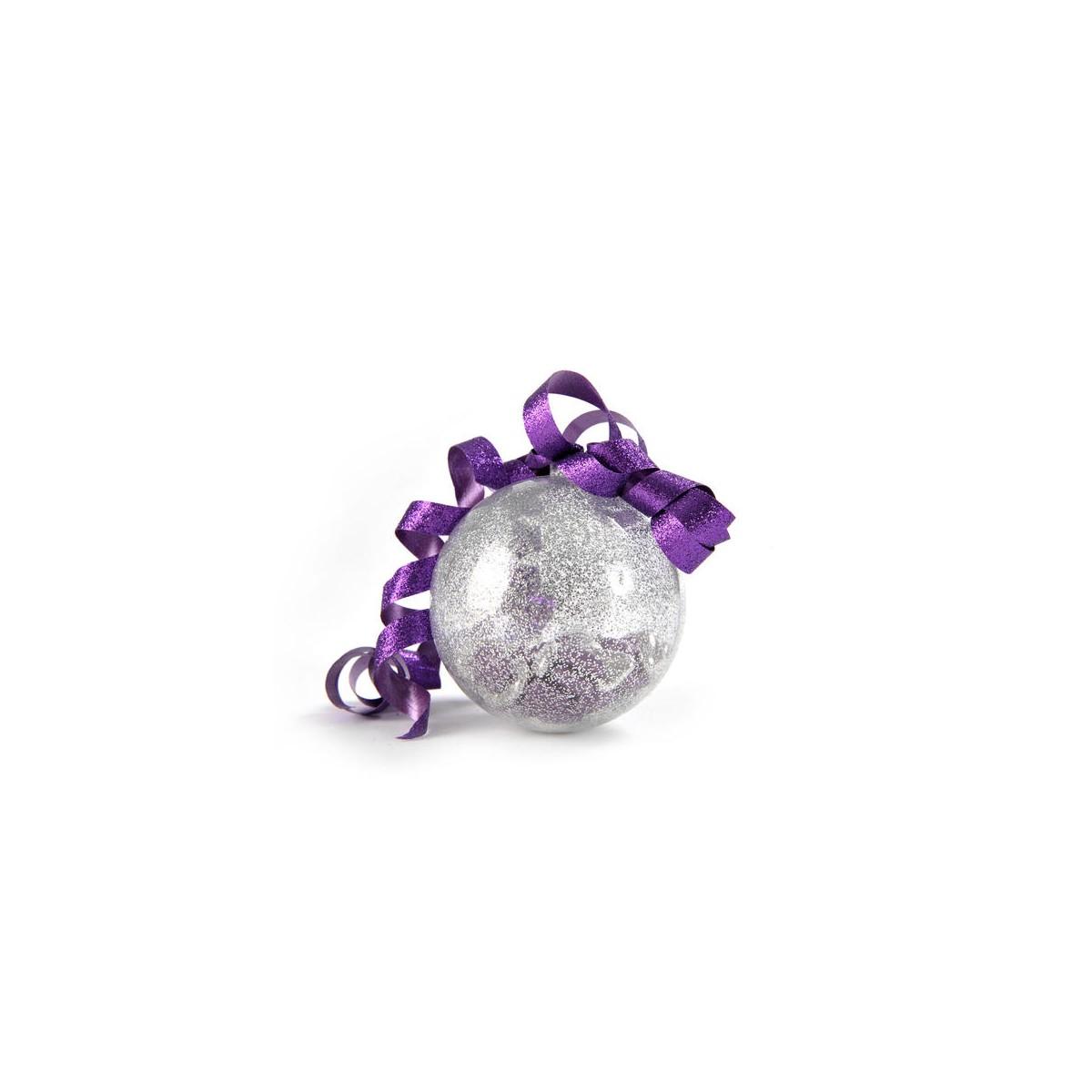 Boule Pailletée Argent x 6