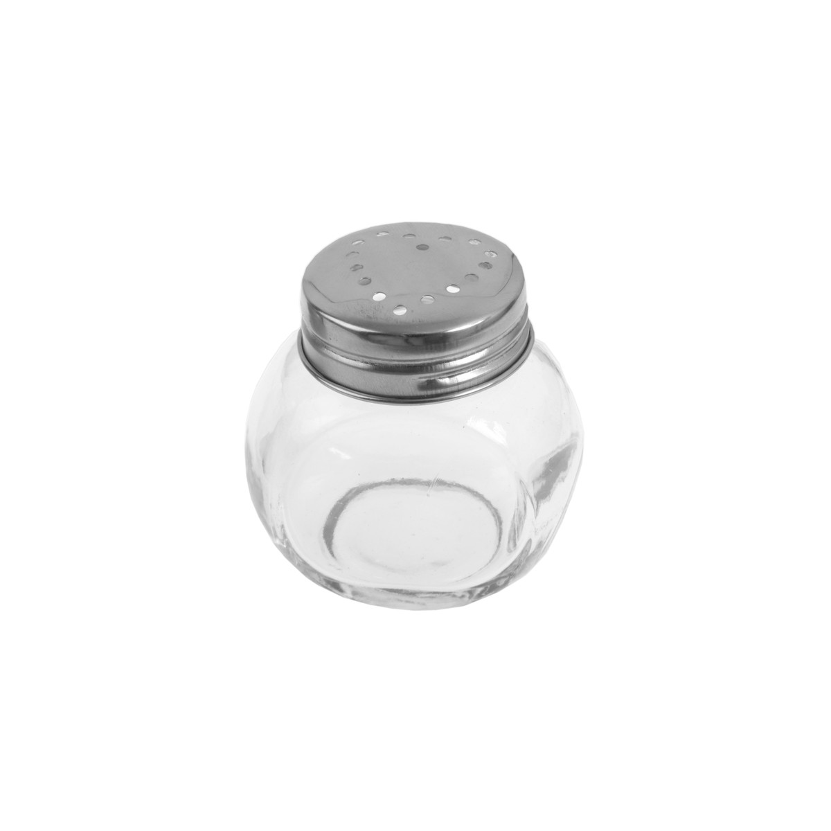 Pot Dragées Verre Couvercle Metal Coeur x2