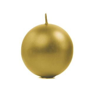Bougie ronde métallisée or