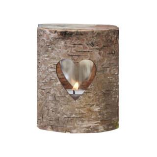 Bougeoir cœur en bois - photophore Noël