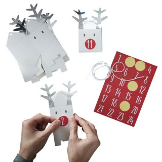 Calendrier de l'avent - Renne Noël - DIY
