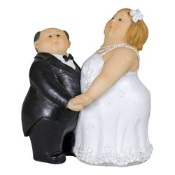 Figurine Mariés Personnes Rondes