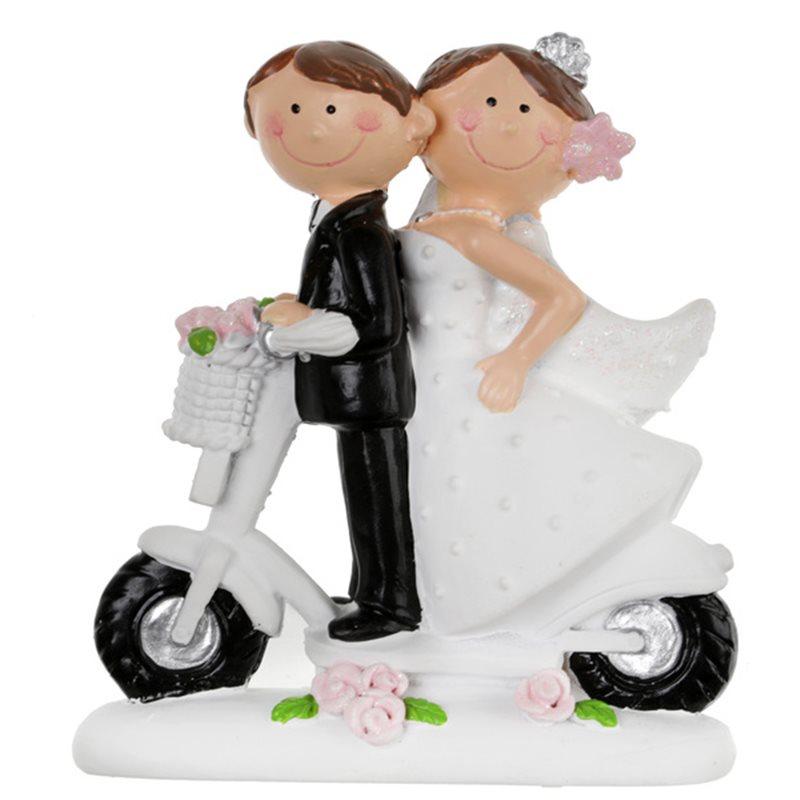 Figurine Mariés Mr Mrs Scooter