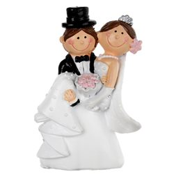 Figurine Mariés Mr Mrs Chapeau