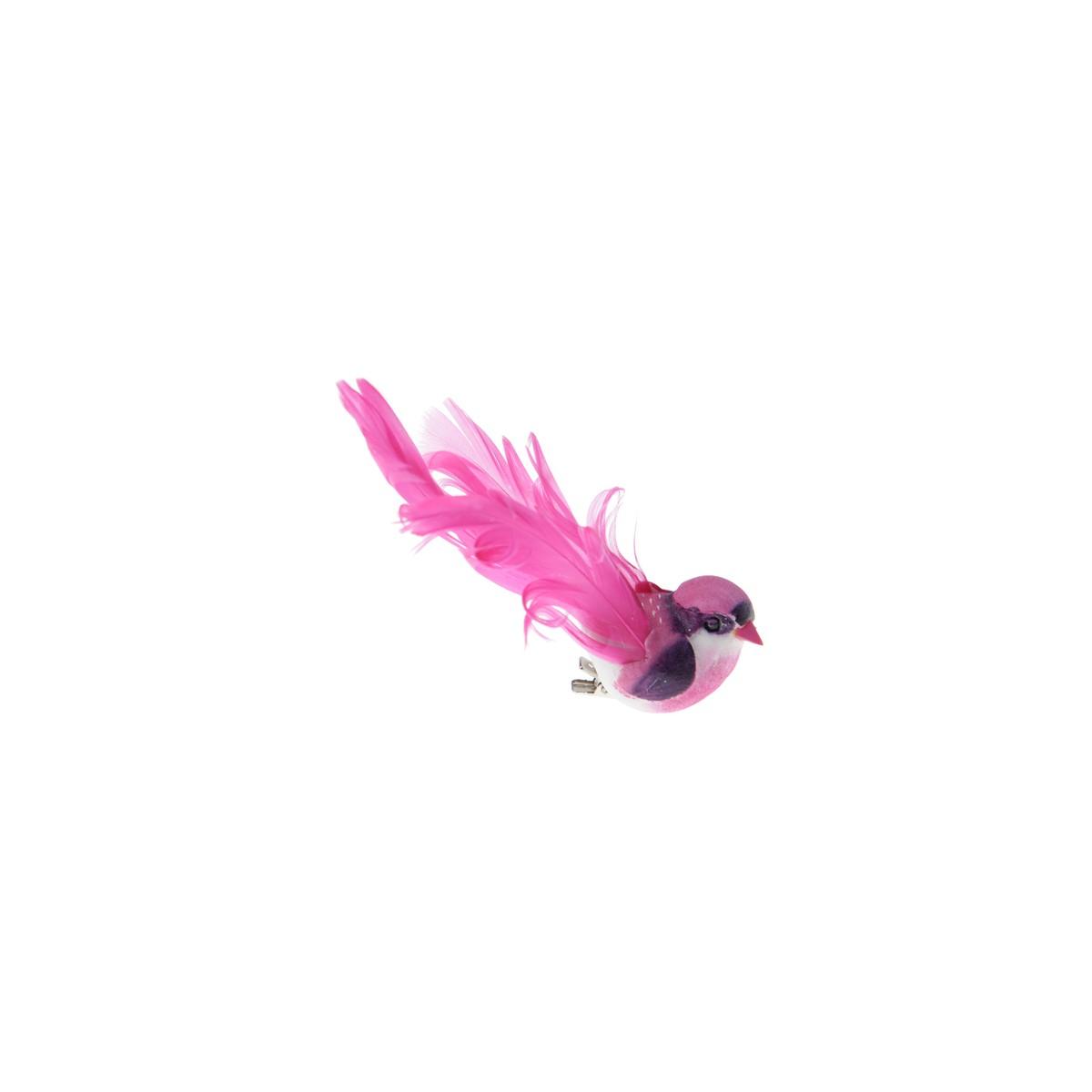 2 x Oiseau Fuchsia sur Pince