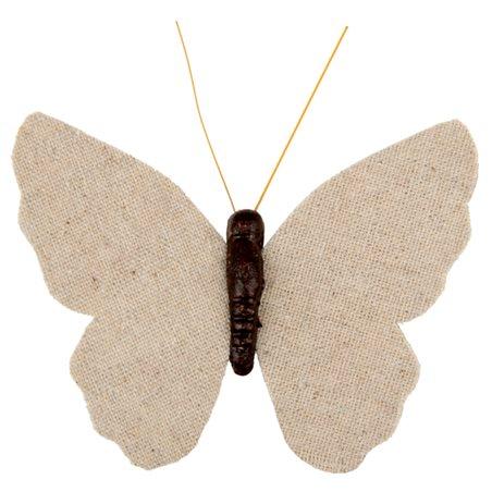 Papillon Coton sur Pince x4