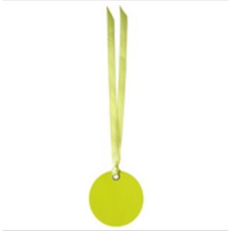 Etiquette Dragees Ronde Ruban x12 - Vert