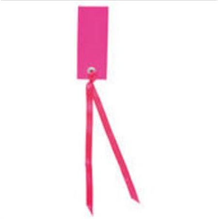 Etiquette Rectangle Ruban Satin x12 – Fuchsia
