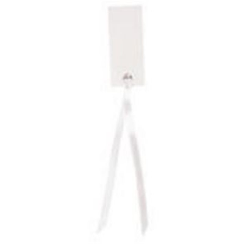 Etiquette Rectangle Ruban Satin x12 - Blanc
