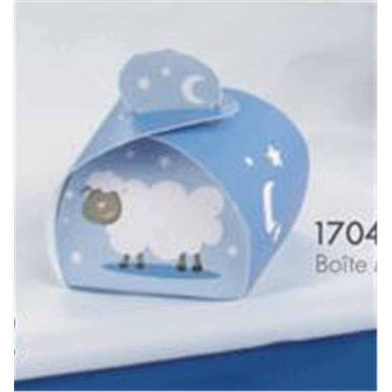 Petite Boite Dragées Mouton Bleu x50
