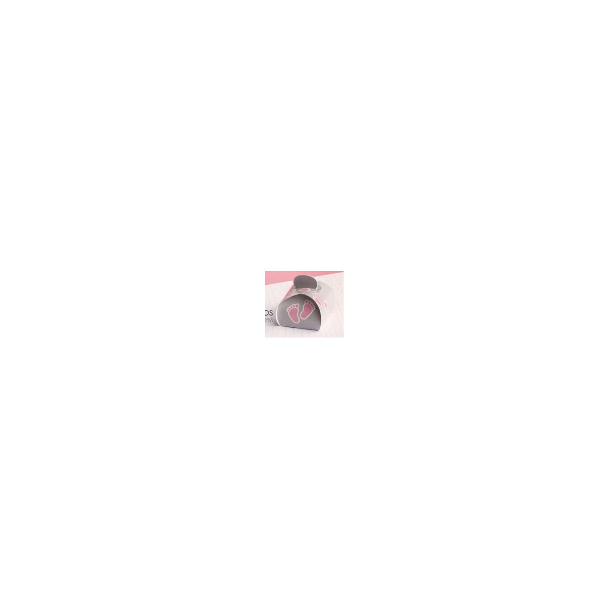 Ballotin dragées Pied Rose x50