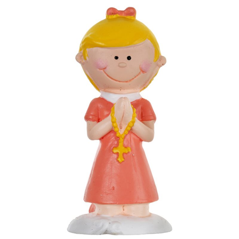 Figurine Communion Fille Corail