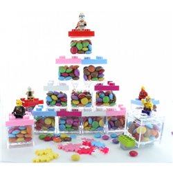 Boite Dragées Lego - Rose