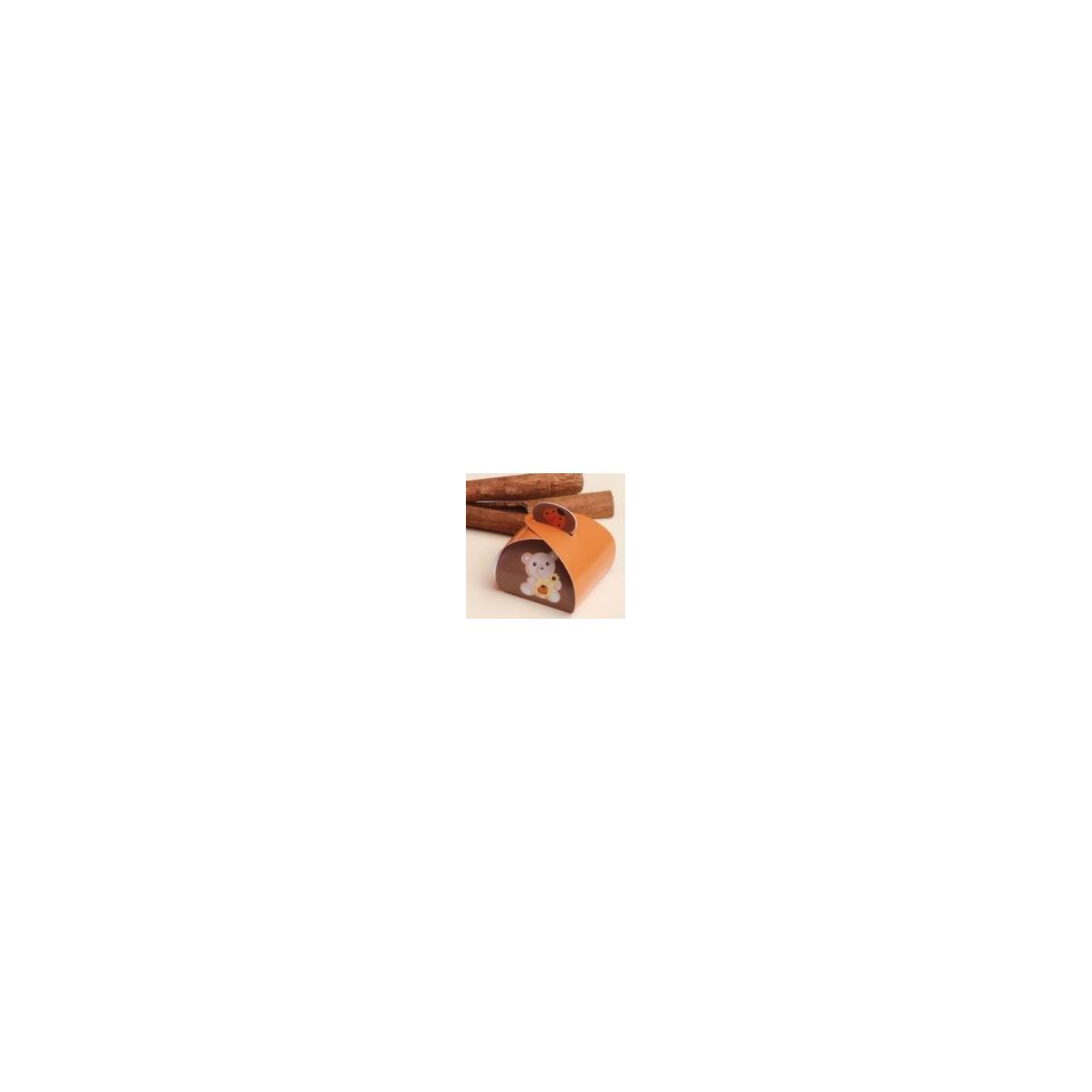 50x Boite Dragées ourson Marron