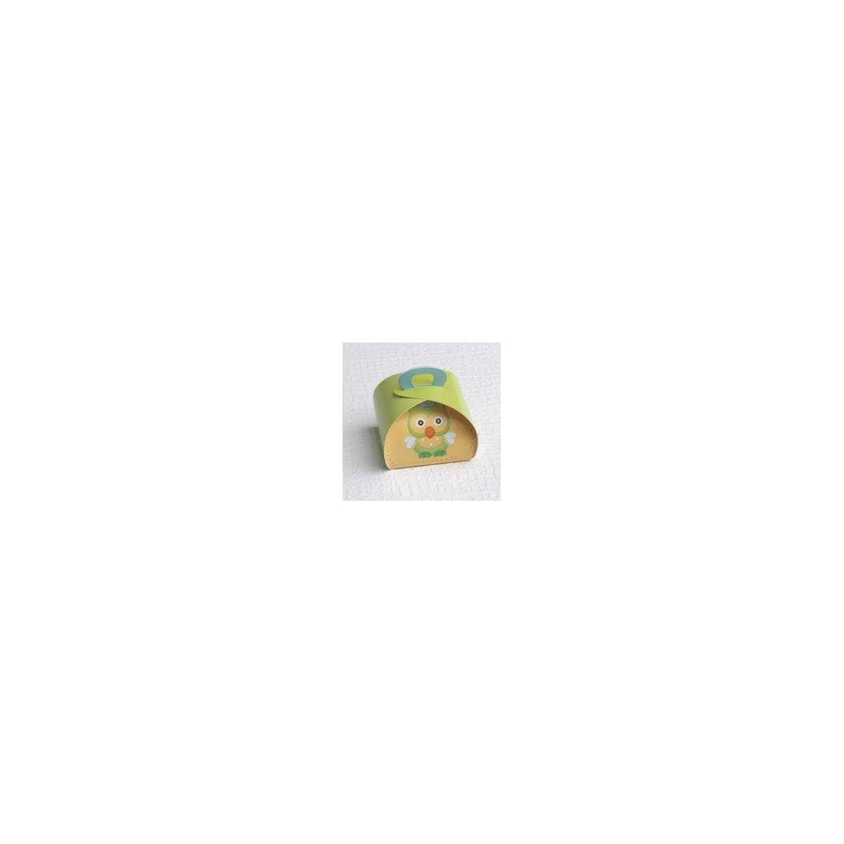 50x Boite Dragées Hibou Vert