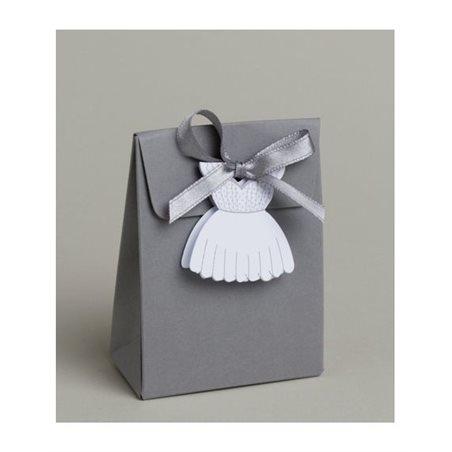 Boite Dragées Robe Mariée + Etiquette