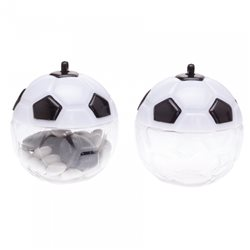 Contenant Dragées Ballon Blanc Noir x10
