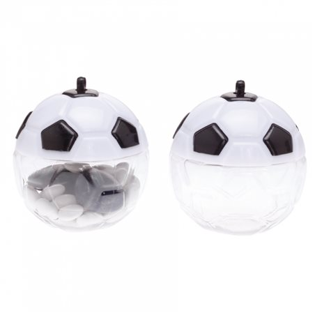Contenant Dragées Ballon Blanc Noir