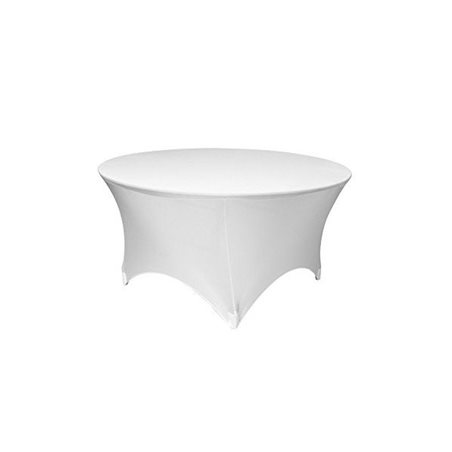 Nappe Ronde Blanche Lycra Extensible