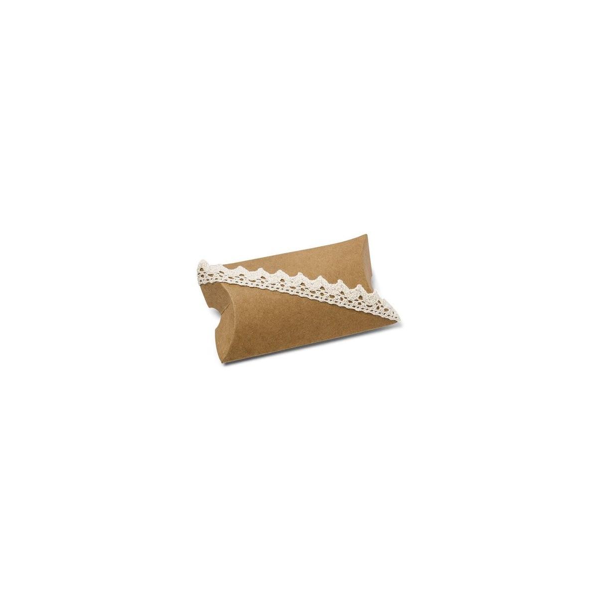 Ballotin Kraft et Dentelle x 10