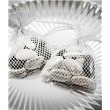Sachet dragées nid d'abeille x 6 - Argent