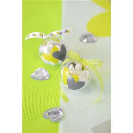 Décoration de table Grand coeur transparent