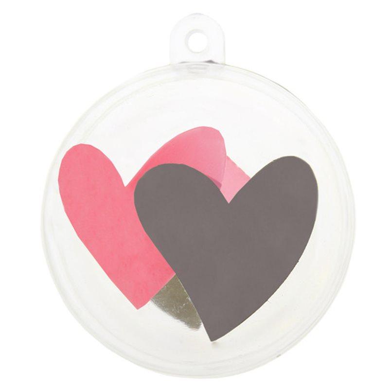 Boule dragées coeur rose