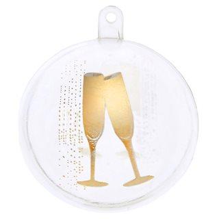 Boule dragées champagne or