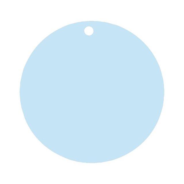 Etiquette Dragées Ronde x10 - Bleu