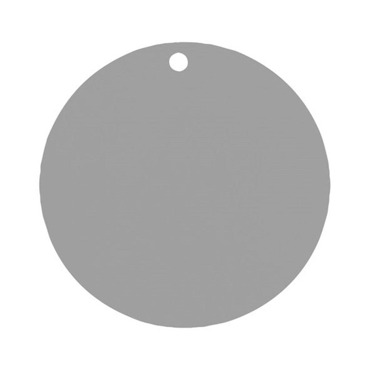Etiquette Dragées Ronde x10 - Gris