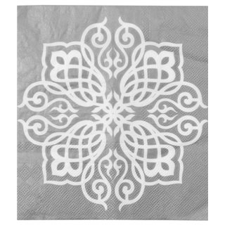 Serviette de table Orientale argent x 20