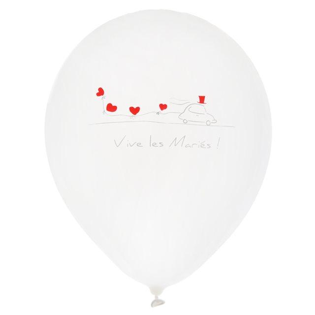 Ballon de Baudruche Vive les mariés x 8