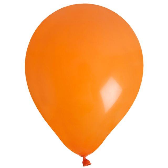 Ballon de Baudruche uni Orange x 8