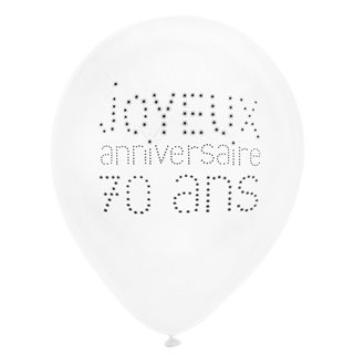 Ballon Baudruche Anniversaire 70 ans