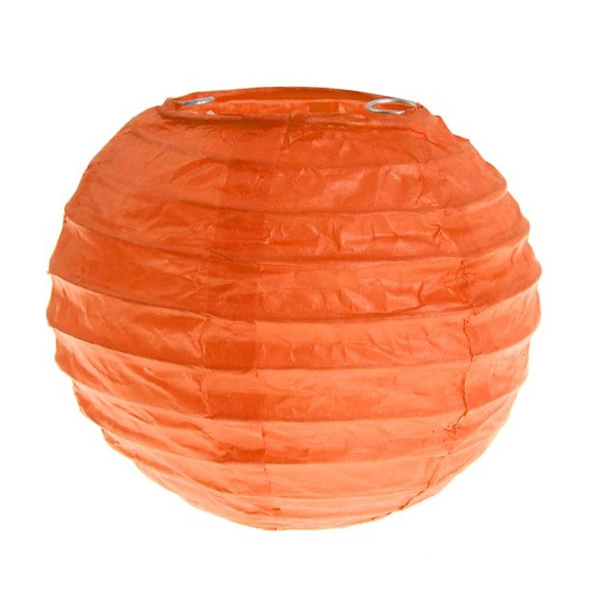 2x Petite Lanterne Papier 10cm - Orange