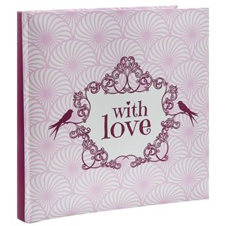 Livre d'Or Mariage With Love rose