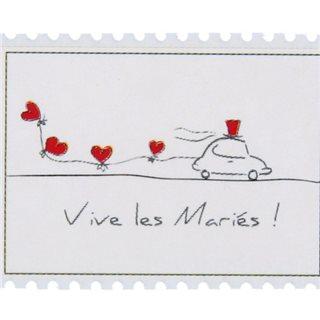 Sticker Vive les mariés x 50