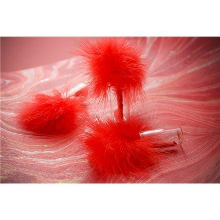 Plume de couleur - Rouge