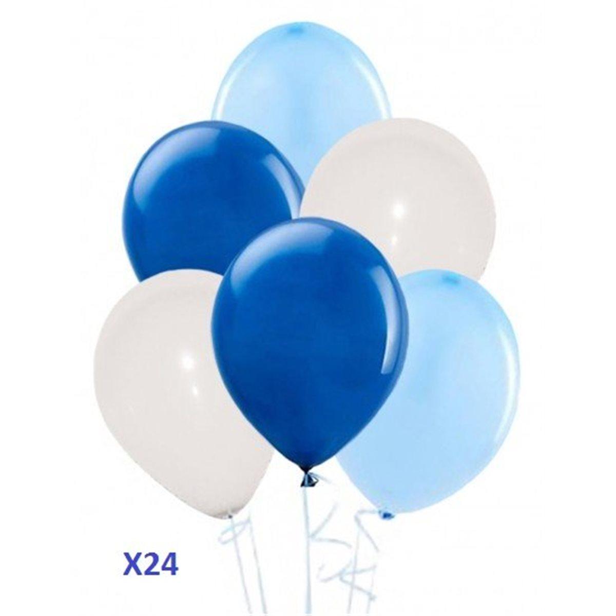 Pack Ballon Bleu Blanc x24