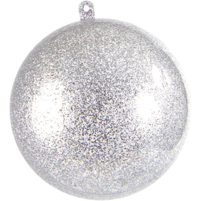 Boule Pailletée argent 10cm x1