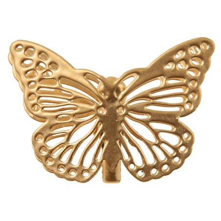 Papillon métal or sur pince x4