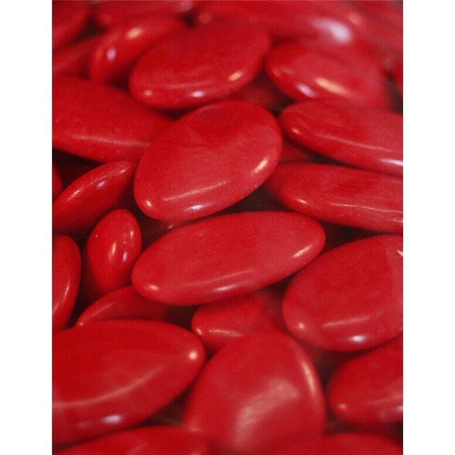 1kg Dragées Chocolat Pecou 70% Rouge