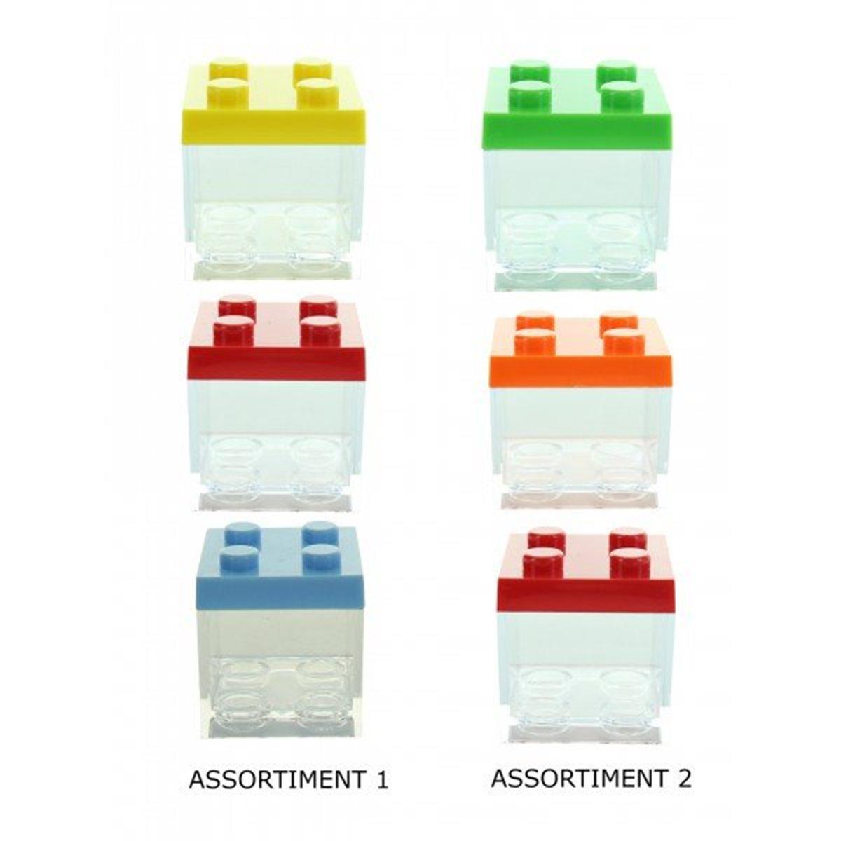 Contenant Dragées Lego Multicolore x3