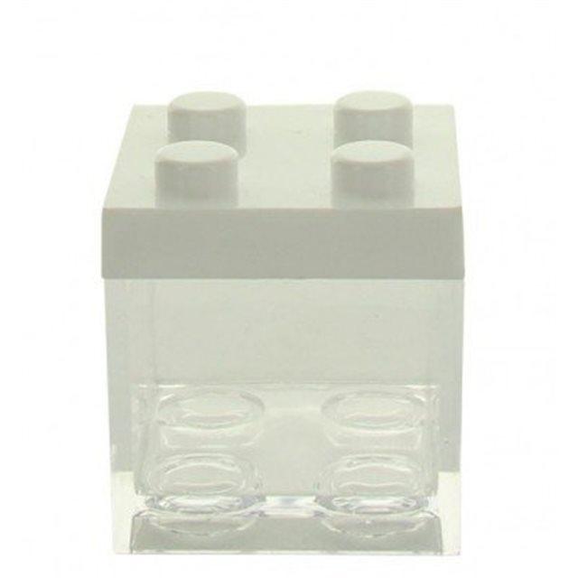 Boite Dragées lego Blanc x1