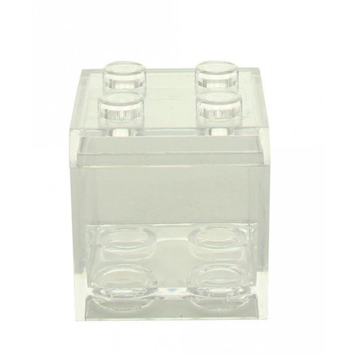 Contenant Dragées Lego Transparent x1